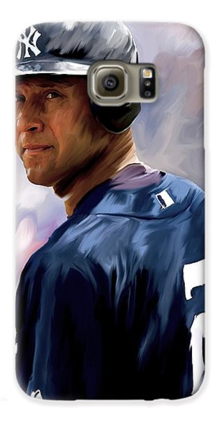 Derek Jeter  Galaxy S6 Case by Iconic Images Art Gallery David Pucciarelli