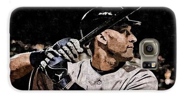 Derek Jeter On Canvas Galaxy S6 Case
