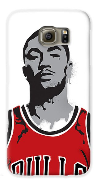 Derrick Rose Galaxy S6 Case by Mike Maher