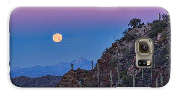Desert Moonset Galaxy S6 Case