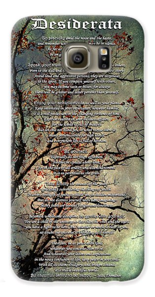 Desiderata Inspiration Over Old Textured Tree Galaxy S6 Case