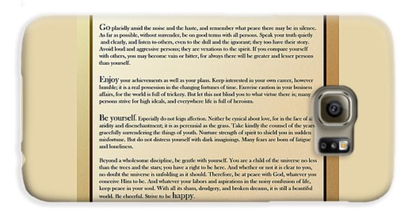 Desiderata Old English Square Galaxy S6 Case