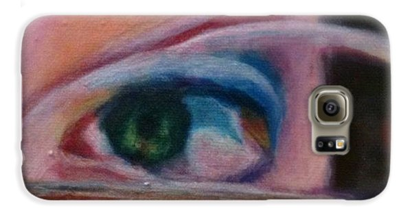 Detail Galaxy S6 Case - Detail From Portrait Of Chrissy An Acrylic Painting By Anna Porter Artist by Anna Porter