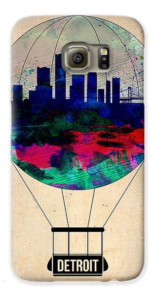 City Scenes Galaxy S6 Case - Detroit Air Balloon by Naxart Studio