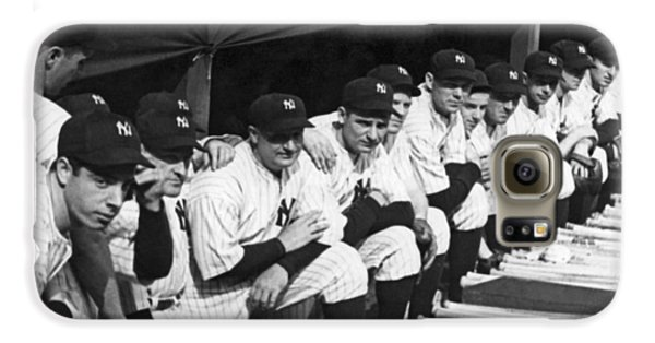 Dimaggio In Yankee Dugout Galaxy S6 Case by Underwood Archives