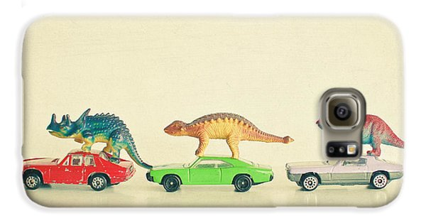 Dinosaurs Ride Cars Galaxy S6 Case