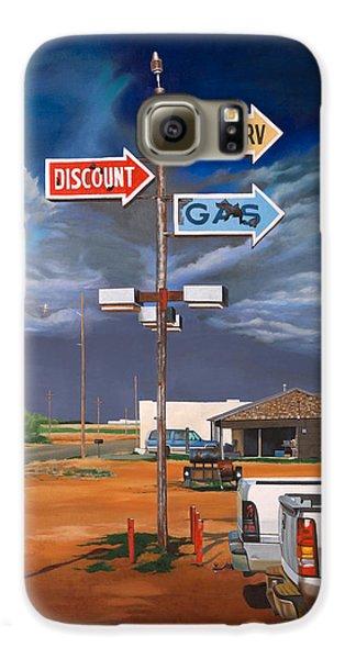 Discount Self-serv Gas Galaxy S6 Case by Karl Melton