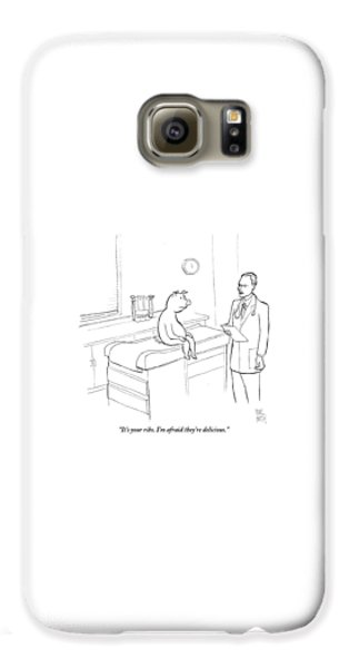 Doctor Galaxy S6 Case - Doctor To Pig by Paul Noth