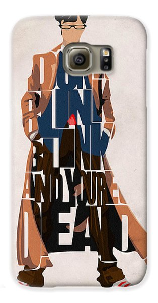 Doctor Galaxy S6 Case - Doctor Who Inspired Tenth Doctor's Typographic Artwork by Inspirowl Design