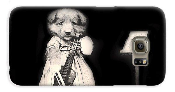 Violin Galaxy S6 Case - Dog Serenade by Mountain Dreams