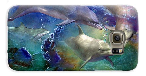 Dolphin Dream Galaxy S6 Case by Carol Cavalaris