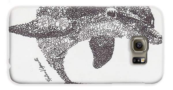 Dolphin Galaxy S6 Case by Michael  Volpicelli