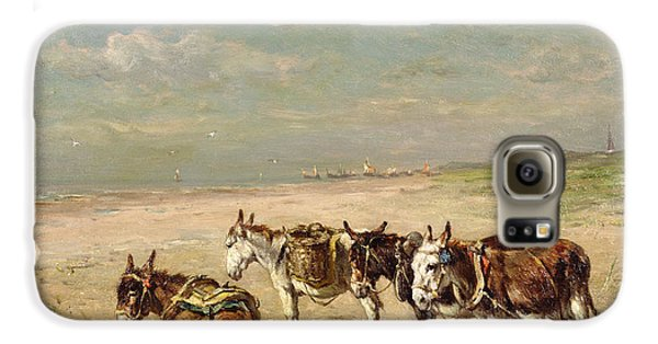 Donkeys On The Beach Galaxy S6 Case by Johannes Hubertus Leonardus de Haas