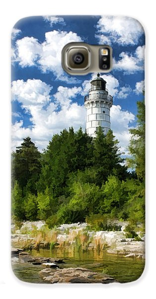 Cana Island Lighthouse Cloudscape In Door County Galaxy S6 Case