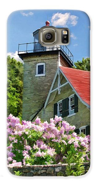Door County Eagle Bluff Lighthouse Lilacs Galaxy S6 Case