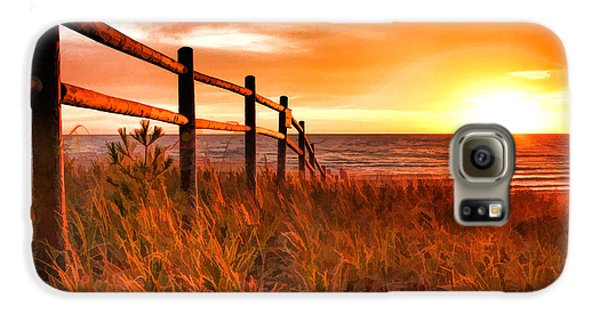 Door County Europe Bay Fence Sunrise Galaxy S6 Case