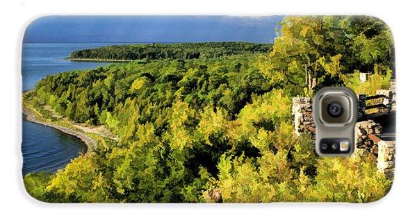 Door County Peninsula State Park Svens Bluff Overlook Galaxy S6 Case