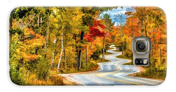 Door County Road To Northport In Autumn Galaxy S6 Case