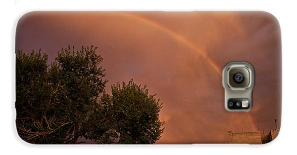 Double Red Rainbow With Tree In Jerome Galaxy S6 Case