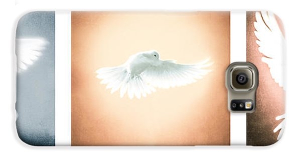 Dove In Flight Triptych Galaxy S6 Case by YoPedro