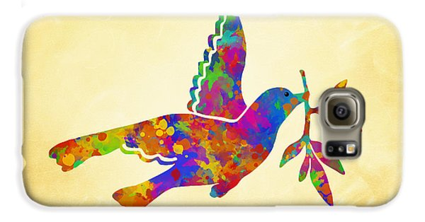 Dove With Olive Branch Galaxy S6 Case by Christina Rollo