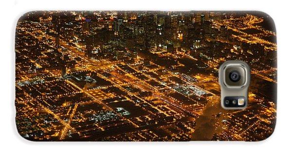Downtown Chicago At Night Galaxy S6 Case by Nathan Rupert