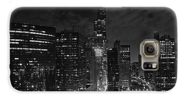 Downtown Chicago At Night Galaxy S6 Case by Ricky L Jones