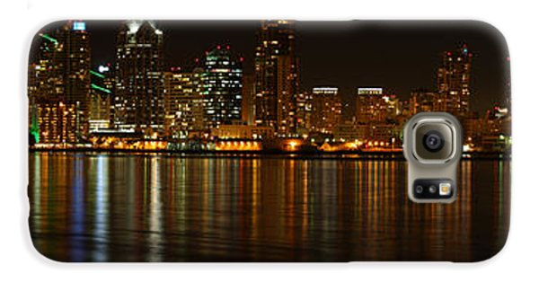 Downtown San Diego At Night From Harbor Drive Galaxy S6 Case by Nathan Rupert