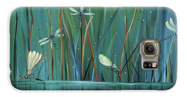 Impressionism Galaxy S6 Case - Dragonfly Diner by Carol Sweetwood