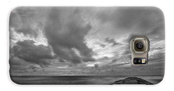 Dramatic Skies Over Galveston Jetty Galaxy S6 Case