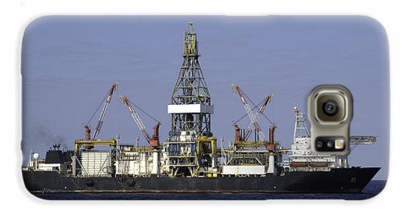 Drill Ship In Blue Ocean Galaxy S6 Case