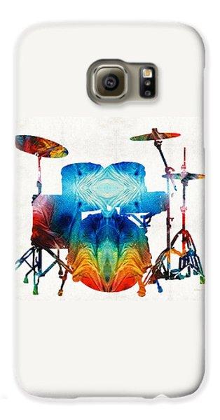 Drum Galaxy S6 Case - Drum Set Art - Color Fusion Drums - By Sharon Cummings by Sharon Cummings