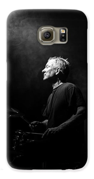 Drums Galaxy S6 Case - Drummer Portrait Of A Muscian by Bob Orsillo