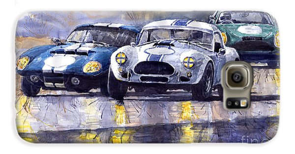 Duel Ac Cobra And Shelby Daytona Coupe 1965 Galaxy S6 Case by Yuriy  Shevchuk