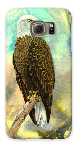 Eagle In Abstract Galaxy S6 Case by Paul Krapf