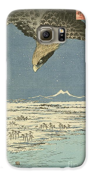 Eagle Over One Hundred Thousand Acre Plain At Susaki Galaxy S6 Case