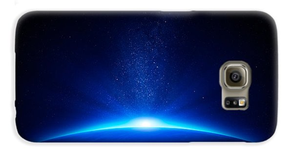 Earth Sunrise In Space Galaxy S6 Case by Johan Swanepoel
