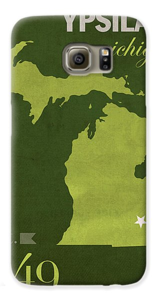 Eastern Michigan University Eagles Ypsilanti College Town State Map Poster Series No 035 Galaxy S6 Case by Design Turnpike