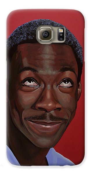 Eddie Murphy Painting Galaxy S6 Case by Paul Meijering
