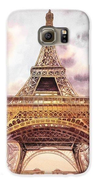 Eiffel Tower Vintage Art Galaxy S6 Case by Irina Sztukowski