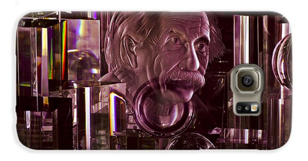 Einstein In Crystal - Purple Galaxy S6 Case