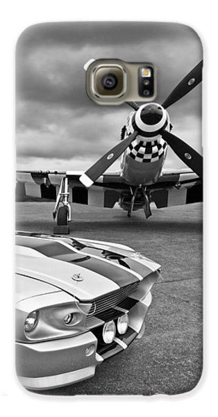 Eleanor Mustang With P51 Black And White Galaxy S6 Case by Gill Billington