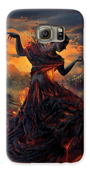 Elements - Fire Galaxy S6 Case by Cassiopeia Art