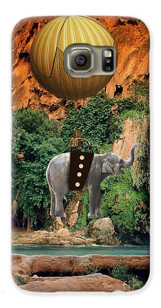 Elephant Flight Galaxy S6 Case by Marvin Blaine