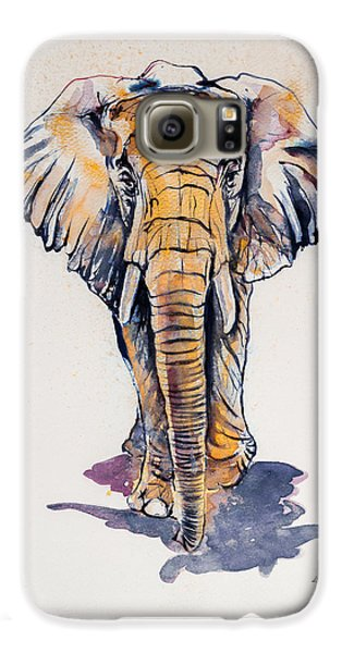 Elephant In Gold Galaxy S6 Case by Kovacs Anna Brigitta