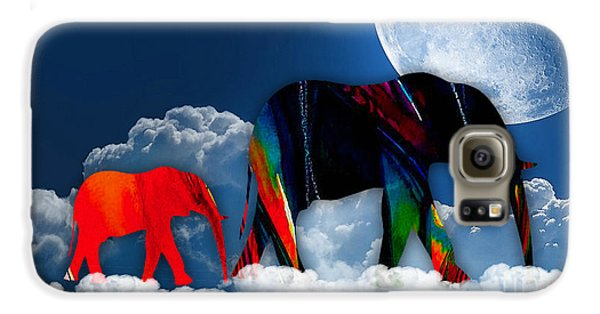 Elephants On Cloud 9 Galaxy S6 Case by Marvin Blaine