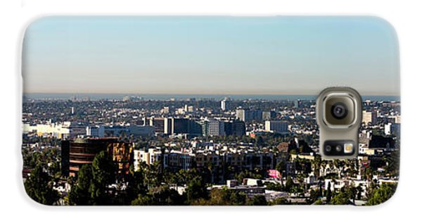 Elevated View Of City, Los Angeles Galaxy S6 Case by Panoramic Images