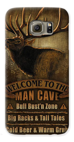 Pheasant Galaxy S6 Case - Elk Man Cave Sign by JQ Licensing