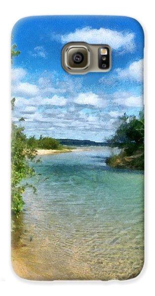 Elk River- Elk Rapids Michigan Galaxy S6 Case by Michelle Calkins