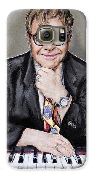 Elton John Galaxy S6 Case by Melanie D